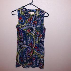 Jude Connally paisley print shift dress size xs